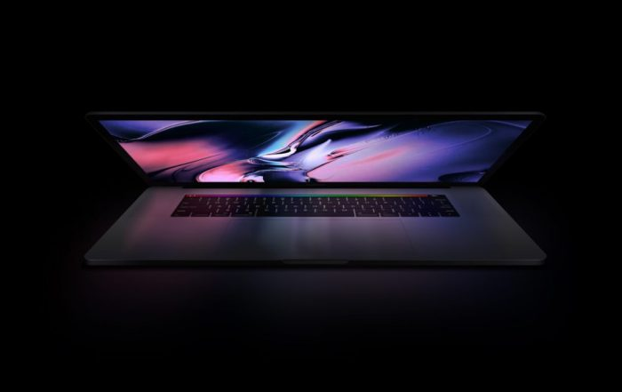 MacBook Pro with Reflection Mockup