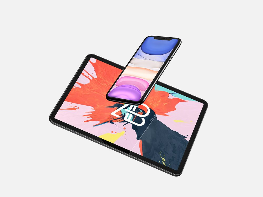 Mobile mockup for iPhone 11 Pro Max and iPad Pro