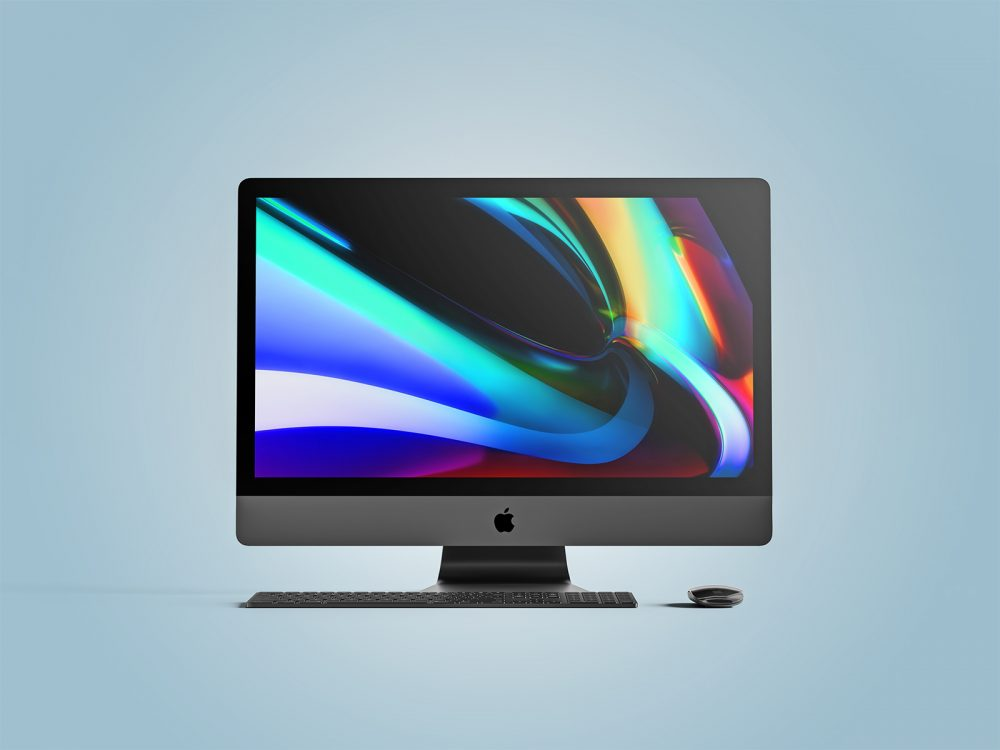Apple iMac Pro front view mockup
