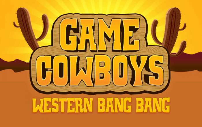 Western game logo text effect