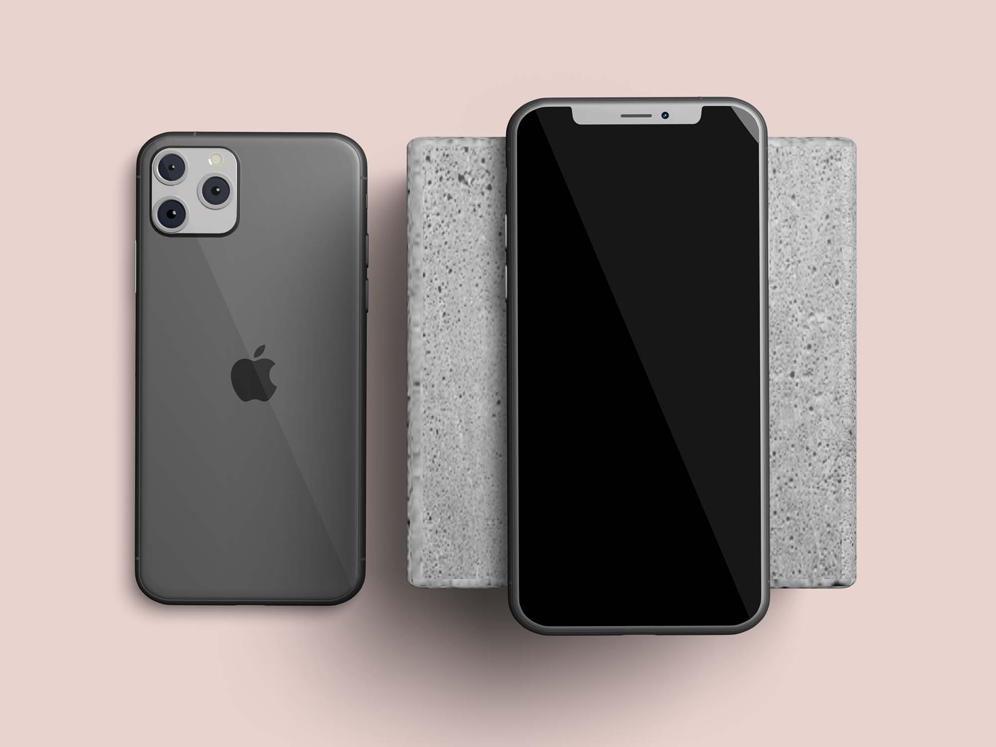 Layered mockups for iPhone 11