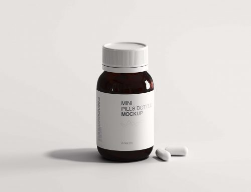 Free Mini Pills Bottle Mockup (PSD)