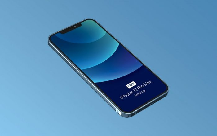 Free PSD mockup for iPhone 12 Pro