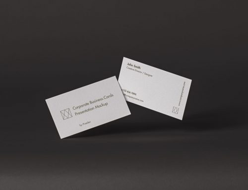 Corporate Business Card Free Mockup