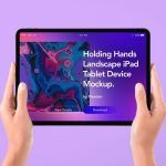 Free mockup for iPad tablet in hand